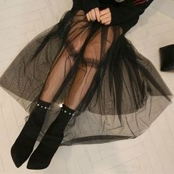 PPGIRL - Spaghetti-Strap Tulle Dress