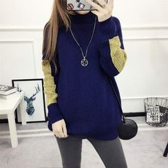 Neeya - Color Block Long Sweater