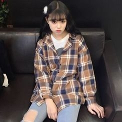 Lokin - Plaid Long Shirt