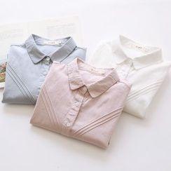 布丁坊 - 飾褶襯衫