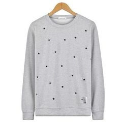 Seoul Homme - Round-Neck Star Print T-Shirt