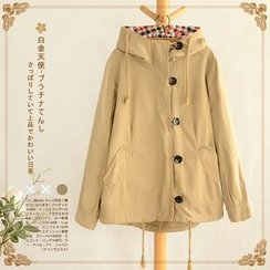 Angel Love - Hooded Buttoned Jacket