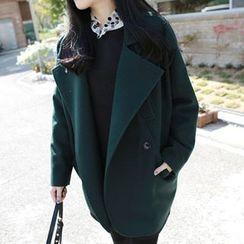 OTTI - High Neck Woolen Coat