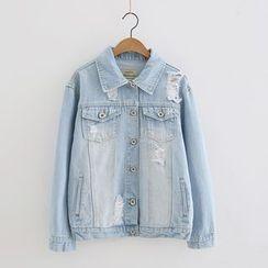 Piko - Distressed Denim Jacket