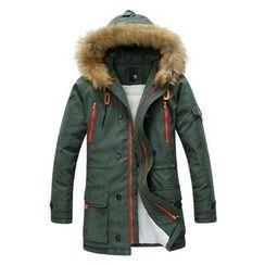 Danjieshi - Faux Fur Hood Parka