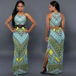 Chika - Patterned Maxi Dress