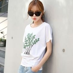 Lemonana - Tree Print T-Shirt