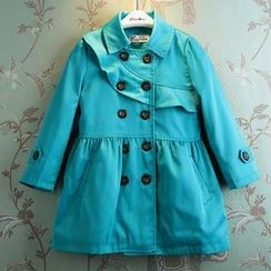 Kidora - Kids Double-Breasted Trench Coat