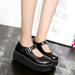 Shoetown - Mary Jane Platform Shoes