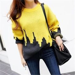 PIPPIN - Crew-Neck Two-Tone Sweater