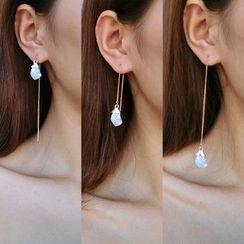 Taimi - Jeweled Drop Single Earrings