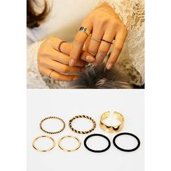 REDOPIN - Set Of 7: Metal Rings