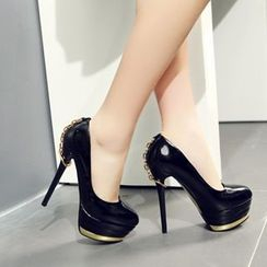 Mancienne - Paneled Platform Pumps