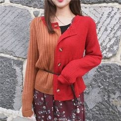 Bloombloom - Color Block Cardigan