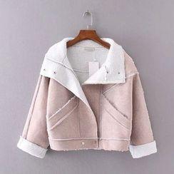 艾女 - 人造羊皮機車夾克