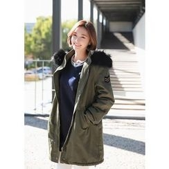 J-ANN - Faux-Fur Zip-Up Parka