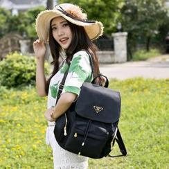 VIVA - Drawstring Flap Backpack