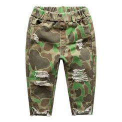 Kido - Kids Ripped Camo Pants