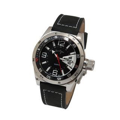 Kenny & co. - Black Quartz Watch with Leather Strap