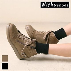 Wifky - Faux-Fur Lined High-Top Sneakers