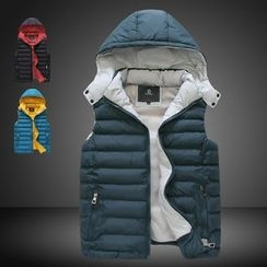 Bay Go Mall - Padded Vest with Detachable Hood