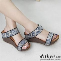 Wifky - Patterned Strap Mules
