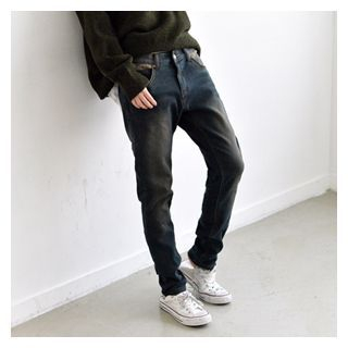 JUSTONE - Washed Baggy-Fit Jeans