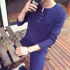 Masowild - Long-Sleeve Plain T-Shirt