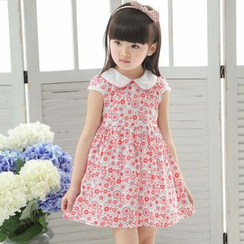 Youtale - Kids Printed Collared Short-Sleeve Dress