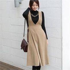 ode' - Long Suspender Skirt