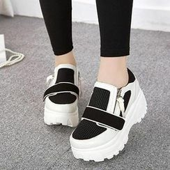 Mancienne - Platform Paneled Sneakers