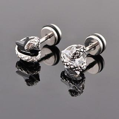 Trend Cool - CZ Titanium Steel Single Stud Earring