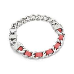 Kenny & co. - Pink Leather Screw Bracelet