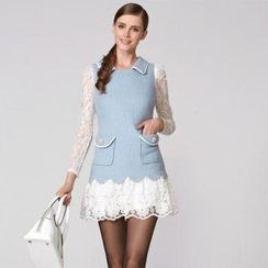 O.SA - Lace-Hem Sleeveless Dress