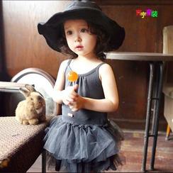Cuckoo - 小童细肩带搭层薄纱连衣裙