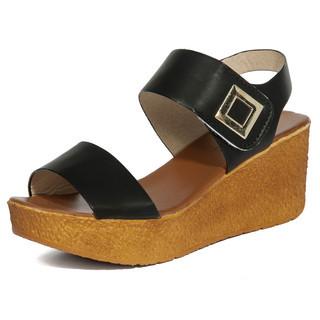 yeswalker - Metal-Accent Velcro Platform Sandals