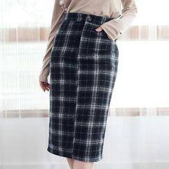 Tokyo Fashion - Plaid Pencil Skirt