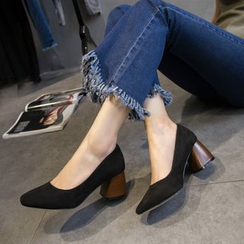 BAYO - 仿麂皮粗跟鞋