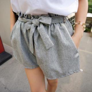 45SEVEN - Paperbag-Waist Shorts