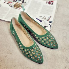Laceuplux - Studded Perforated Flats
