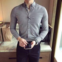 Prep Soul - 纯色长袖衬衫