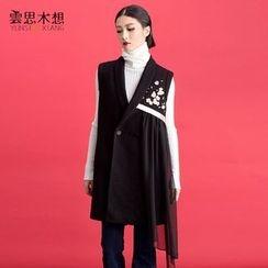 Cloudwood - Flower Embroidered Long Vest