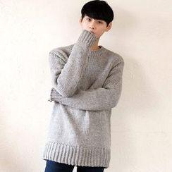 TOMONARI - Crew-Neck Long-Sleeve Sweater