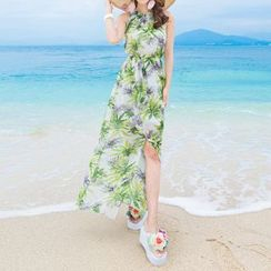 Isadora - Print Sleeveless Maxi Chiffon Dress