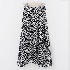Meimei - Patterned Maxi Skirt