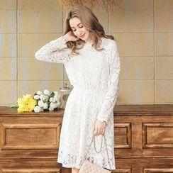 Tokyo Fashion - Long-Sleeve Lace Dress