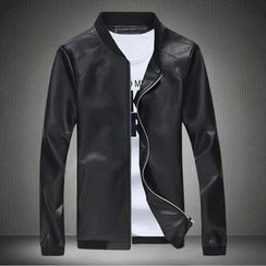 Blueforce - Faux Leather Zip Jacket