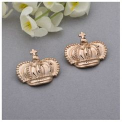 Mamak Beans - Set of 2: Crown Brooch