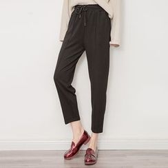 Tonya - Cropped Drawstring Pants
