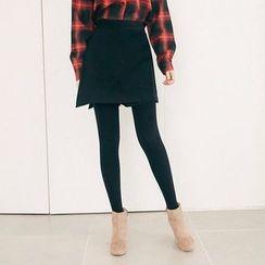 Seoul Fashion - Inset Shorts Mini Wrap Skirt